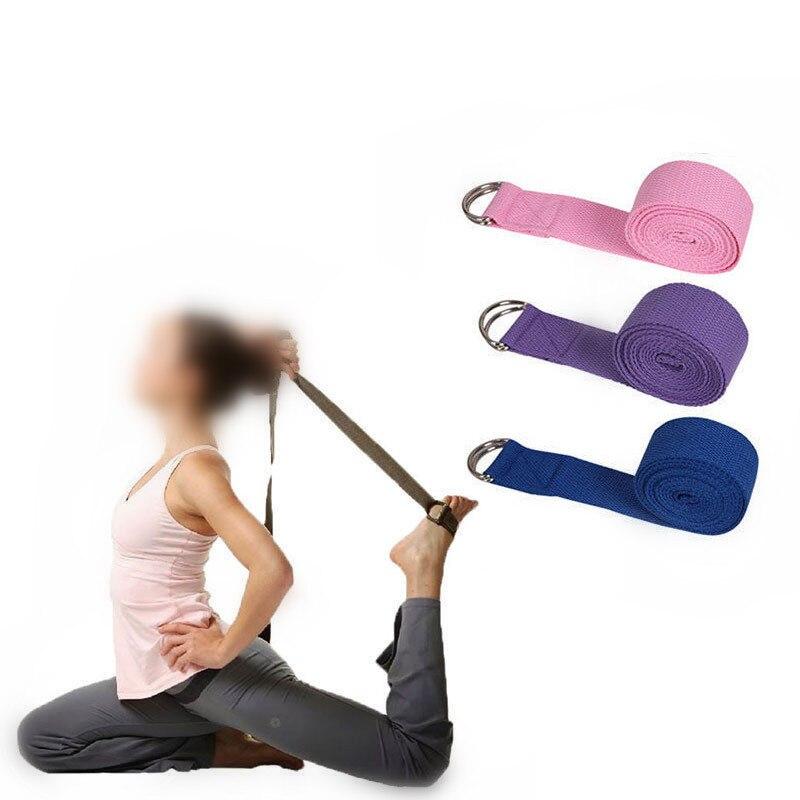 Yoga Stretch Fitness Exercise Gym Yoga Stretch Strap Belt Figure Waist Leg Exercise