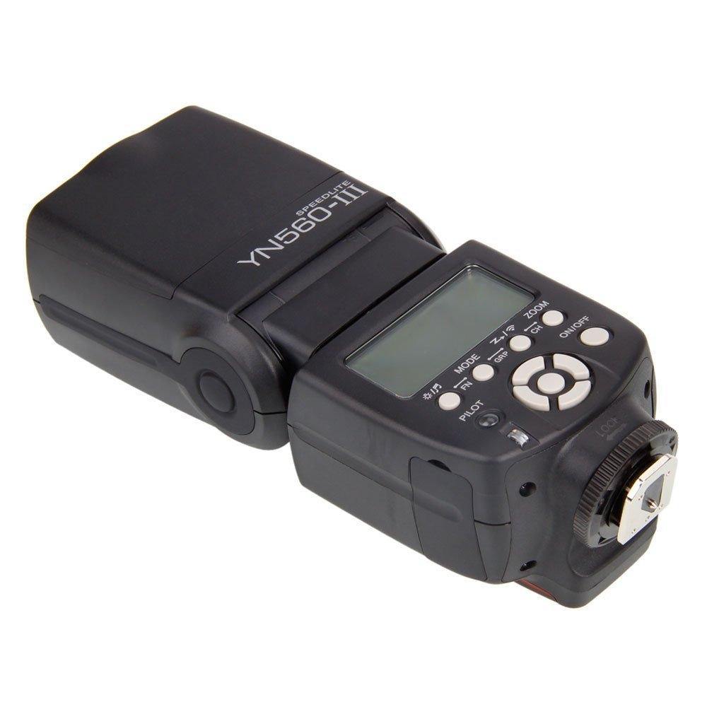 LumiParty YONGNUO YN-560 III Wireless Flash Speedlite Speedlight Flashlight with Built-in 2.4GHz Radio for Nikon yongnuo yn 560 iii 2 4g hss 1 8000s radio flash speedlite and rf603n ii wireless trigger single receiver for nikon kit
