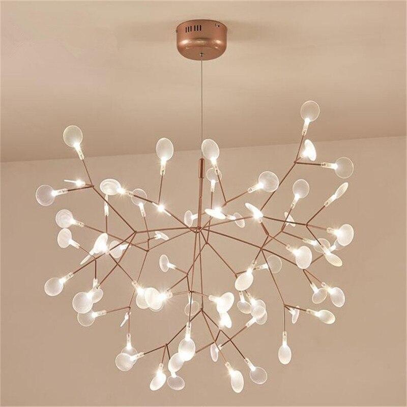 Минималистский люстры светлячки свет светодио дный Люстра Подвеска блеск для Спальня магазин G4 Nordic светильник висит свет 110-220 В