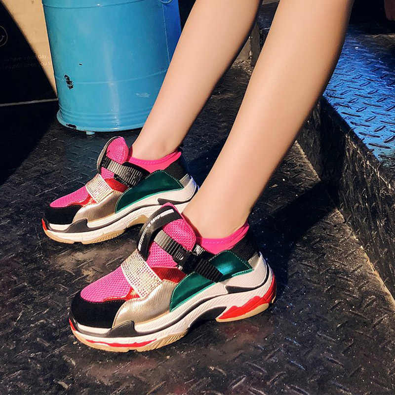 EARTH STAR White Shoes Women Brand Platform Sneaker Pu Leather Fashion Lady  chaussure Breathable Autumn footware 72765993126a