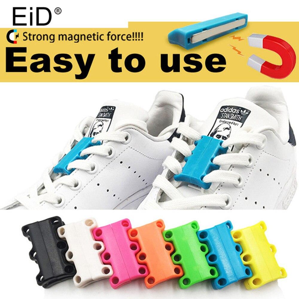 72ac8ba40c0 Magnético de los cordones de los zapatos hebilla corbata cordones para  zapatillas de deporte Zapatos casuales perezosos zapatos de encaje fuerte  rápido ...