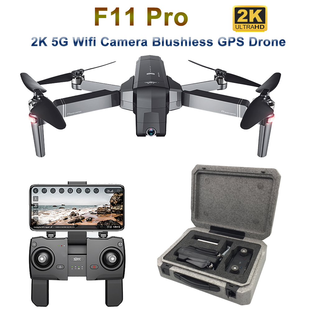 SJRC F11 Pro GPS Drone With 2K Wide Angle Camera 5G Wifi 500m FPV Brushless Quadcopter 28mins Flight Time RC Drone VS SG906 B4W