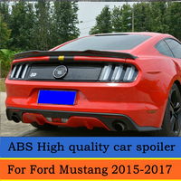 For Ford Mustang ABS plastic material Rear Trunk Spoiler Wing 2015 2016 2017 Auto Racing Car Styling