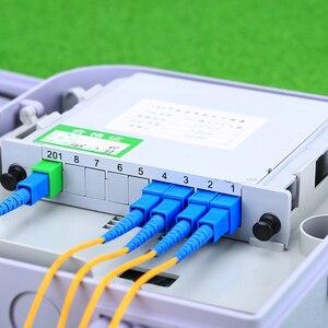 Image 3 - KELUSHI SC/UPC 1x4 מודול PLC סיבים אופטי ספליטר SC מחבר PLC ספליטר תיבת אופטי הסתעפות מכשיר
