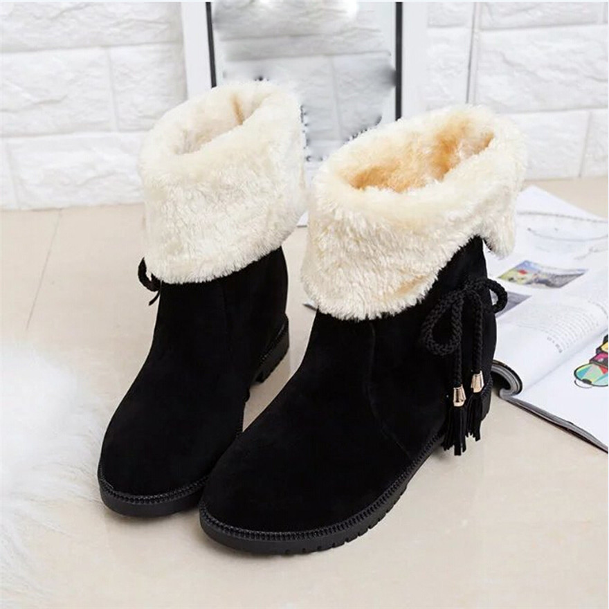 Snow Boots Winter Ankle Boots Women Shoes Heels Winter Boots buty damskie Fashion Shoes chaussure femme talon scarpe donna цена