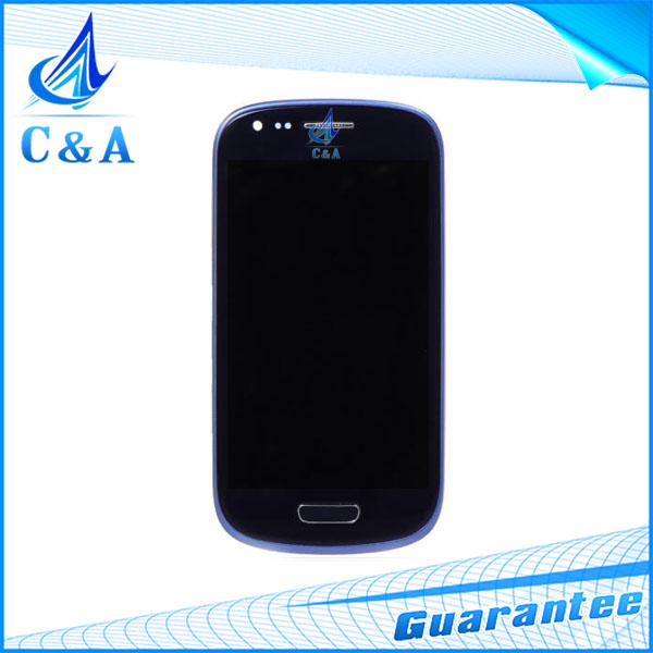 1 piece free shipping tested replacement 4 screen for Samsung Galaxy S3 mini i8190 i8195 lcd display touch digitizer frame