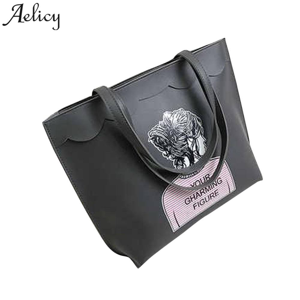 Aelicy 2018 New Fashion Ladies Hand Bag Womens Leather Handbag Leather Tote Bag Female Shoulder Bag Vintage Bolsas femininas