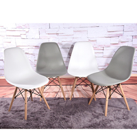HOT SALE 4pcs Lot Dining Chair Retro Wooden Legs Dining Room Furniture