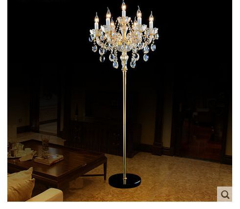 lampadaire de luxe champagne cristal salon lampadaire cristal moderne lampadaire de cristal de. Black Bedroom Furniture Sets. Home Design Ideas