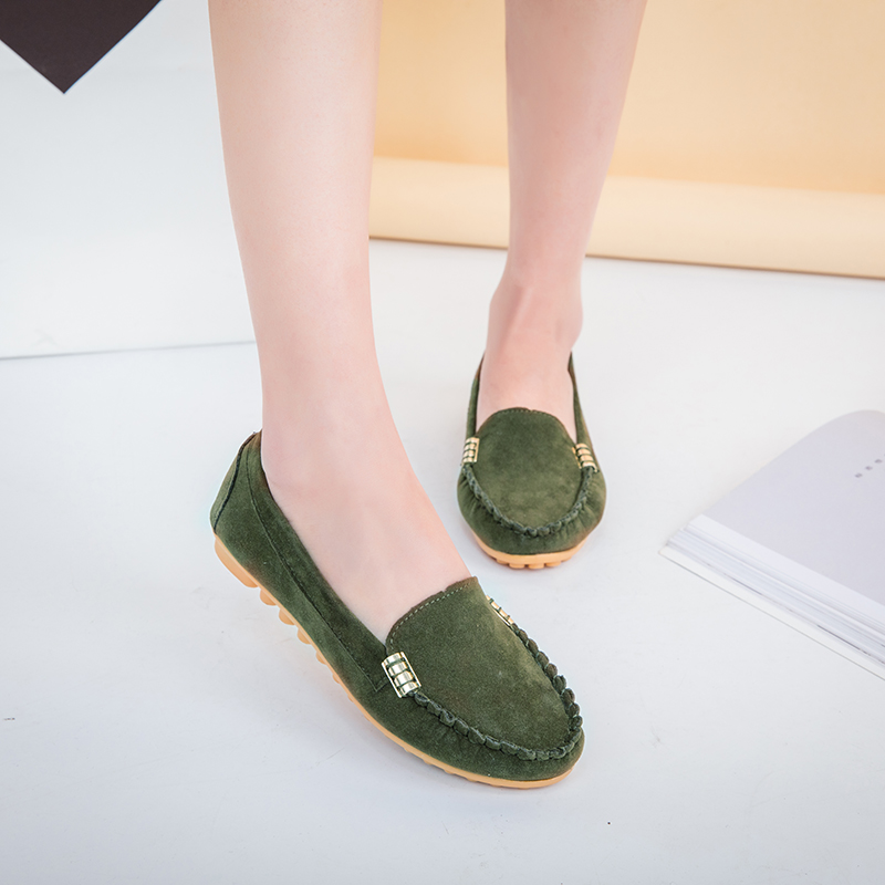 HTB1ds4iX6LuK1Rjy0Fhq6xpdFXa8 Plus Size 35 43 Women Flats shoes 2019 Loafers Candy Color Slip on Flat Shoes Ballet Flats Comfortable Ladies shoe zapatos mujer