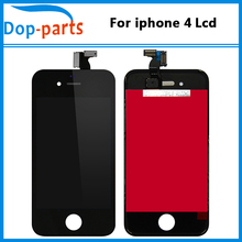 100PCS/LOT No Dead Pixel Touch Screen Digitizer For Apple iPhone 4 LCD Display Replacement with Black and White Made in China 20pcs lot no dead pixel aaa quality for apple iphone 5s lcd touch screen display replacement digitizer 4 0 inches white black