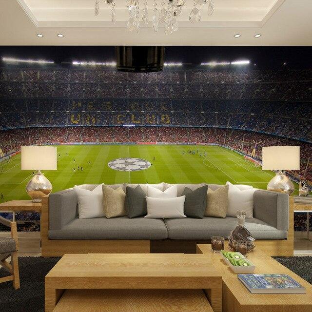 Barcelona football stadium Wallpaper in the living room large