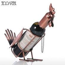 Tooarts Cremalheira Do Vinho Do Metal Moderno Galo Vinho Titular Suporte para Garrafa De Vinho Suporte para Garrafa de Uísque Estatuetas Para Casa Acessórios de decoração