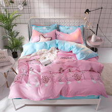 57 Bedding Set Queen Soft Bedclothes Twill Bohemian Print Duvet Cover Set with Pillowcases 4pcs Bed Set Home