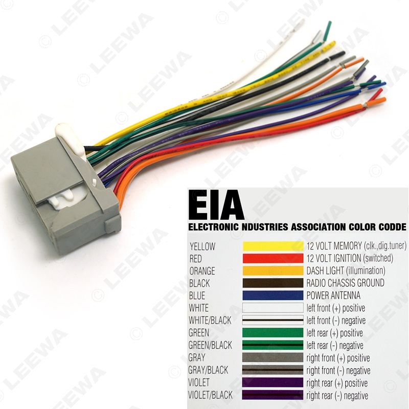 1set for Honda 2008 2011 Stereo CD Audio Aftermarket Wire Harness Cable Radio Antenna Install Plug doorbell wiring diagram light roslonek net,Nutone Doorbell Wiring Radio