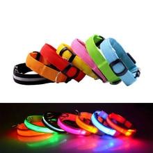 Hot Sale Nylon LED Dog Collar 3Mode Flash Adjustable Glow Cat Collars Harness Creative Pets Luminous Pet Supplies