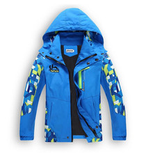Hot Saling Children Boy's Jackets Coats Kids Active clothing Double-deck Waterproof Windproof Boys outwears