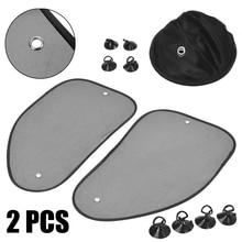 2Pcs Car Side Window Mesh Left and Right Sun Shade Visor Cover Shield UV Protector