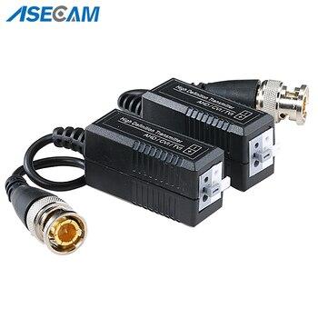 Alta calidad BNC a UTP Cat5/5e/6 Balun de vídeo HD adaptador de transceptores transmisor soporte 1080P 4MP 5MP AHD CVI TVI Cámara 200M
