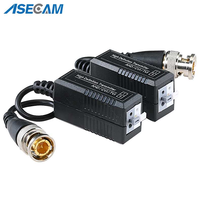 High Quality BNC To UTP Cat5/5e/6 Video Balun HD Transceivers Adapter Transmitter Support 1080P 4MP 5MP AHD CVI TVI Camera 200M