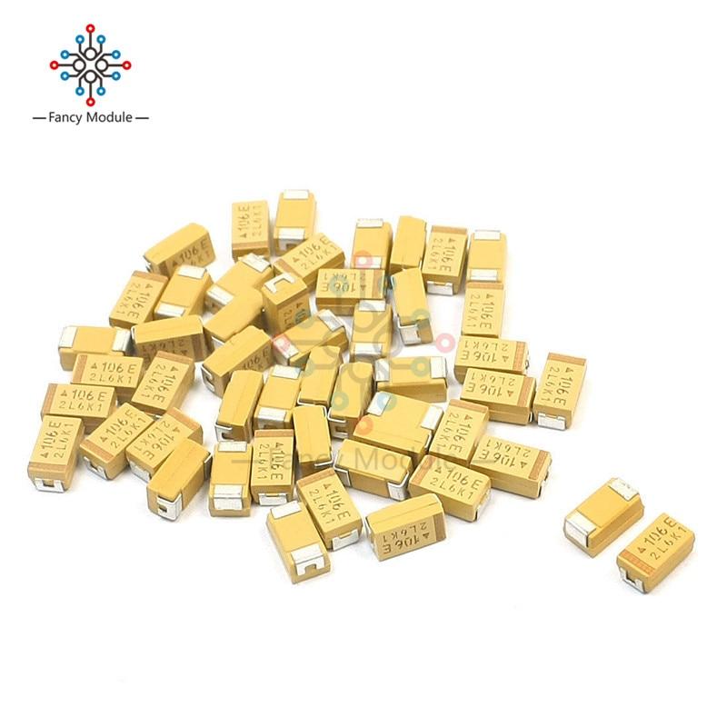 20PCS 10UF 35V C6032 Type C Tantalum Capacitor SMD C 6032 Chip