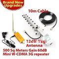 Лучшая цена! 3 Г Повторитель W-CDMA 2100 МГц Мобильный Телефон UMTS Усилитель Сигнала 3 Г WCDMA Сигнал Повторителя Усилитель + 13dBi Яги антенна