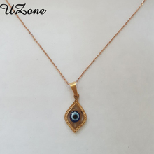 UZone Evil eye Pendant Necklace Hot Sale Stainless Steel Necklace Rose Gold Color Amulet Necklace For Women