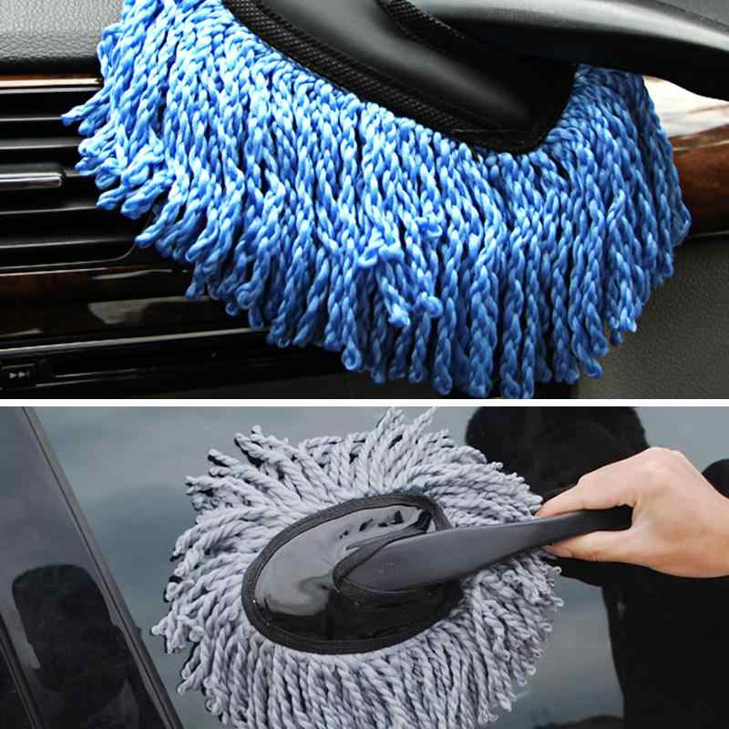 VODOOL Auto Coating Reiniging Wax Borstel Microfiber Auto Window Wash Cleaner Lange Handvat Vuil Stof Interieur Afstoffen Clean Borstel