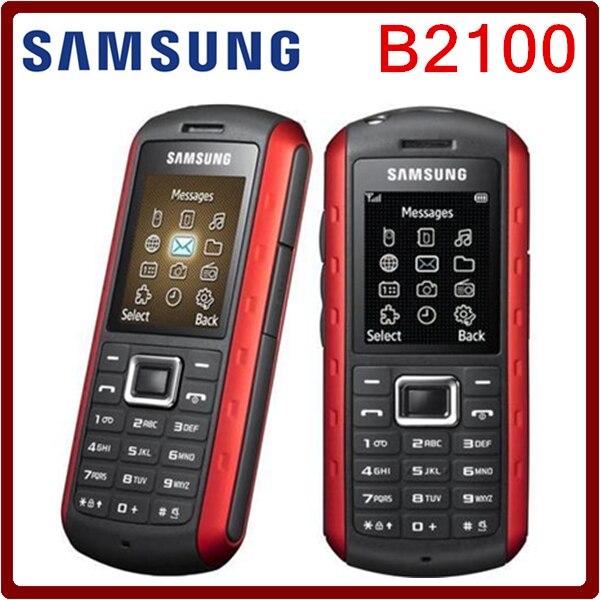 Цена за Оригинальный разблокированный Samsung B2100 1000 мАч 1,3 мегапиксельная камера, экран 1.77 дюймов, водонепроницаемый. Отремонтированный. Бесплатная доставка