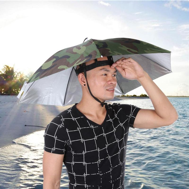 Portable Rain Umbrella Hat Foldable Outdoor Sports SunShade Waterproof Camping Hiking Fishing Headwear Cap Beach Head HatsPortable Rain Umbrella Hat Foldable Outdoor Sports SunShade Waterproof Camping Hiking Fishing Headwear Cap Beach Head Hats