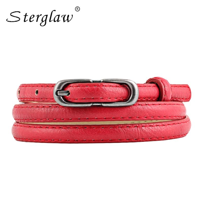 Nuevas damas de piel de serpiente cinturones y correas delgadas para las mujeres visten 2018 moda caliente serpiente cinturón rojo cinturon mujer mujer decorativo N136