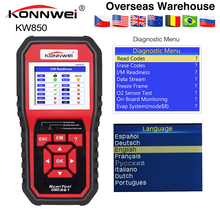 KONNWEI KW850 OBD2 สแกนเนอร์หลายภาษา Full OBD 2 ฟังก์ชั่นเครื่องมือวินิจฉัยอัตโนมัติ KW 850 ดีกว่า Autel AL519 NX501 AD310