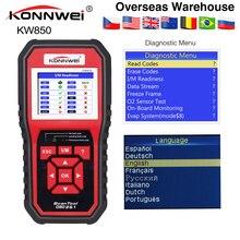 KONNWEI KW850 skaner OBD2 wielojęzyczne pełne OBD 2 funkcja automatyczne narzędzie diagnostyczne kw 850 lepiej niż Autel AL519 NX501 AD310