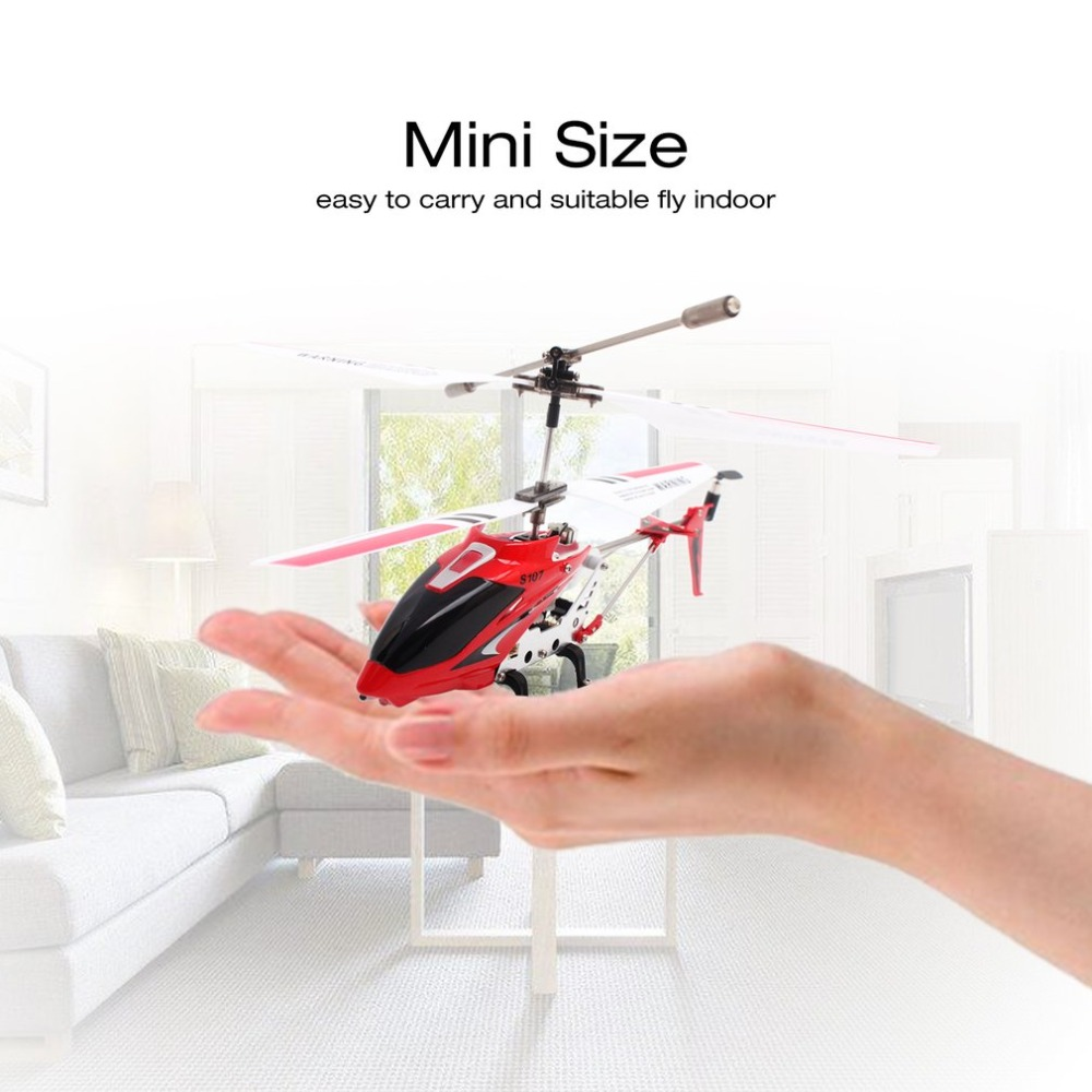 Christmas Original Syma S107G Gyro Metal Infrared Radio 3CH Mini Helicopter RC Remote Control Flying Drone for Toys Present RTF