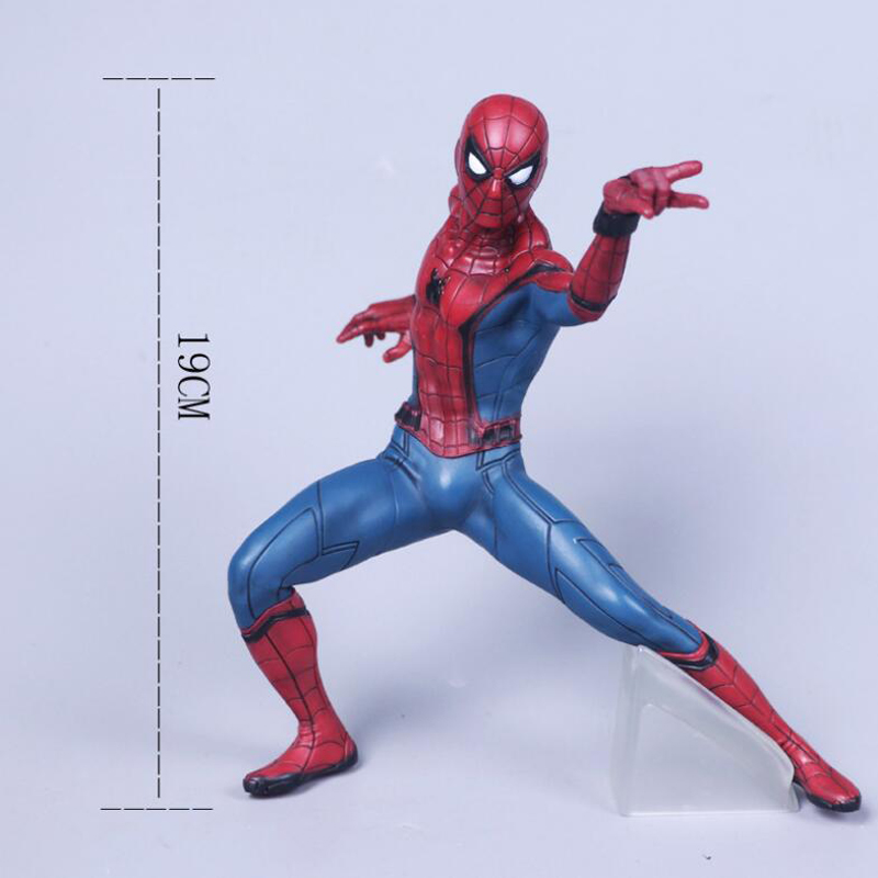 Action Spider Man figure model toys Spiderman 19cm PVC collection action figrues toy kids gift F7320