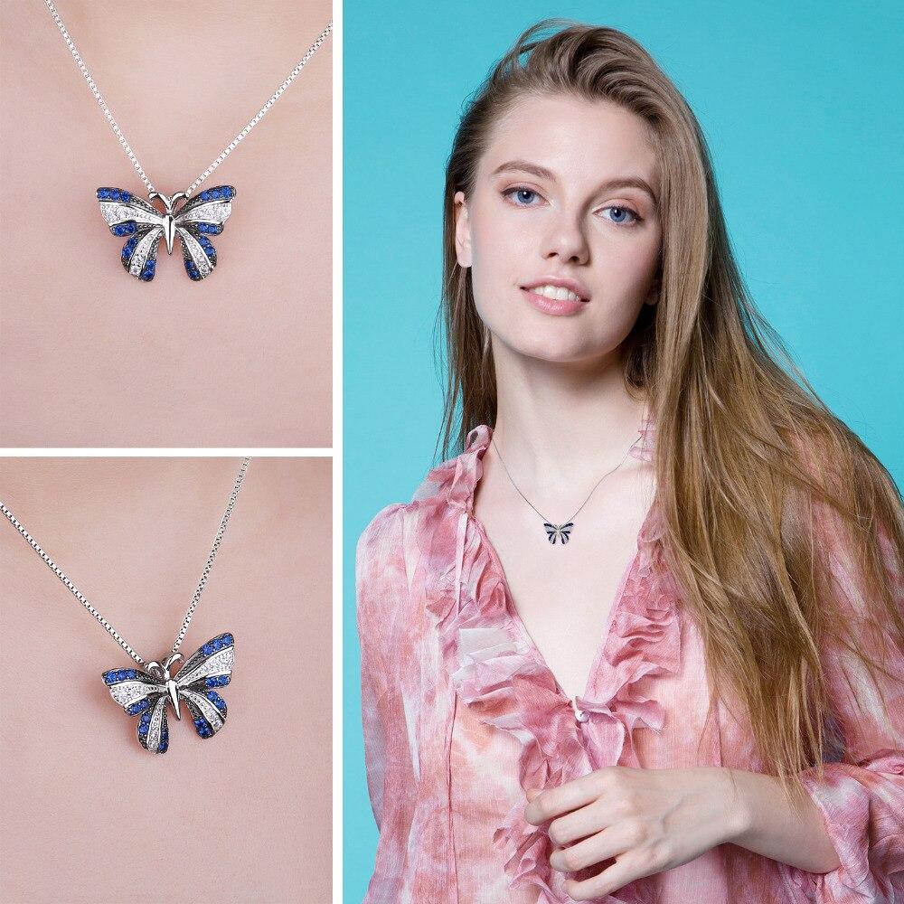 NakitPalace Butterfly 0.4ct Stvoren Blue Spinel Privjesak 100% - Fine nakit - Foto 3