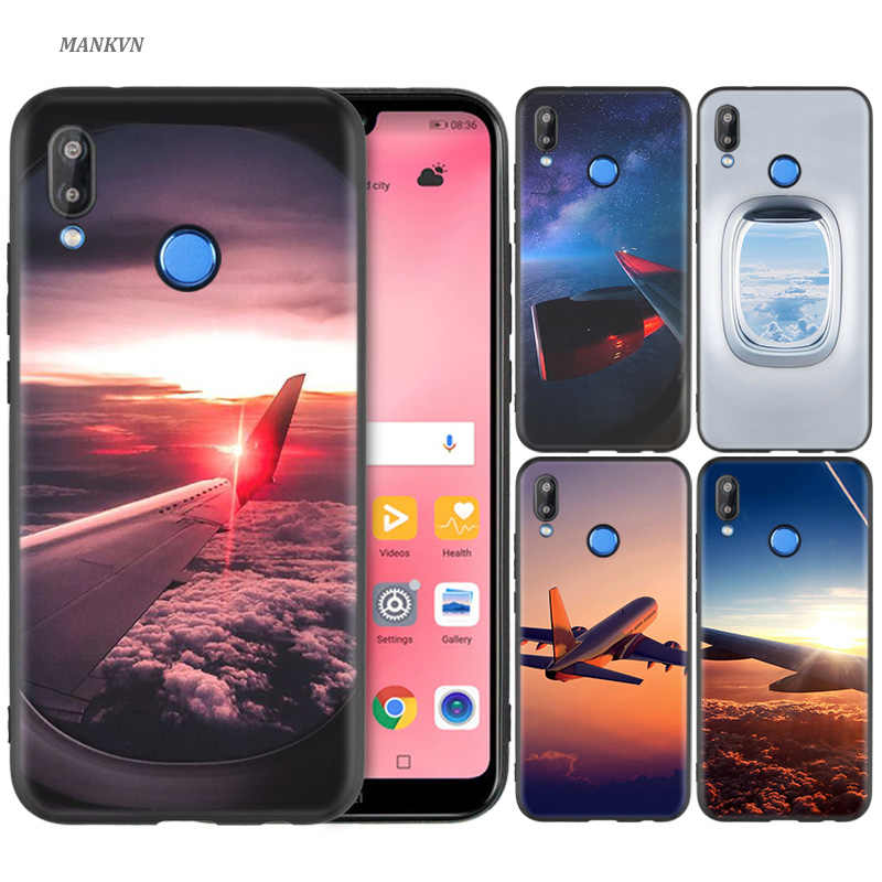 Silicone Case Cover for Huawei P20 P10 P9 P8 Lite Pro 2017 P Smart+ 2019 Nova 3i 3E Phone Cases aircraft plane airplane aeroplan