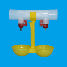 15 pcs Dierbenodigdheden Dubbele Outlet Drinken Opknoping Kippen Cups Drinknippel Gevogelte Waterer Voeden Benodigdheden