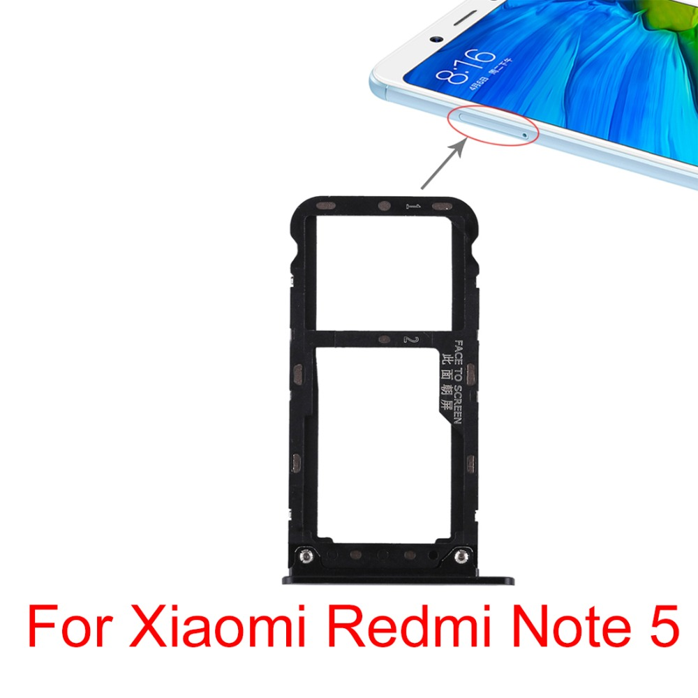 Micro SD Card Tray for Tenco Infinix Note 5 X604 Replacement SIM Card Tray XIAOMIN SIM Card Tray Color : Blue
