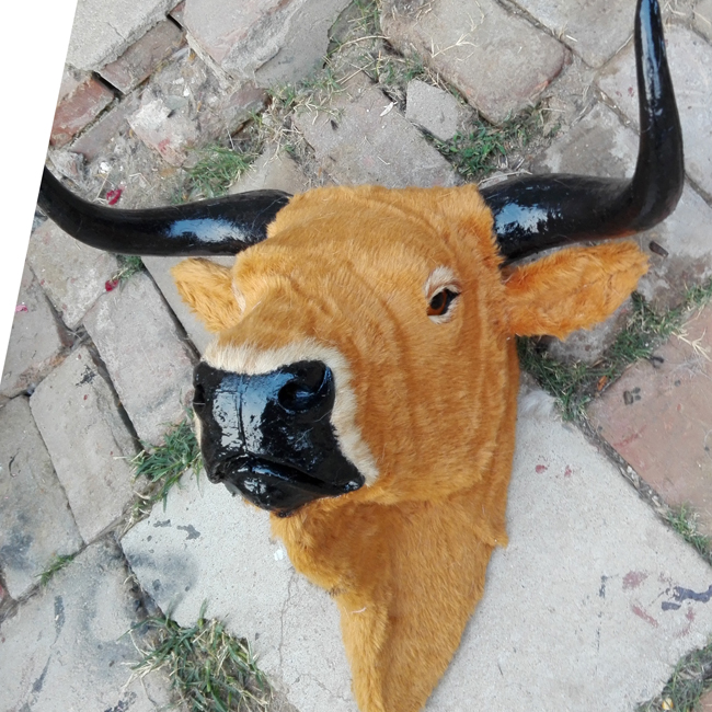 simulation cattle head model large 56x50cm,plastic&fur wall hangings handicraft toy ,home decoration,Xmas gift w5882 stuffed animal 44 cm plush standing cow toy simulation dairy cattle doll great gift w501