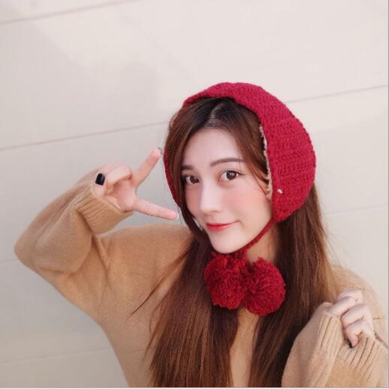 Women New Earmuffs ELK Christmas Gift Warmer Plain Knitted Warm Earmuffs  For Girls Winter Solid Color H5