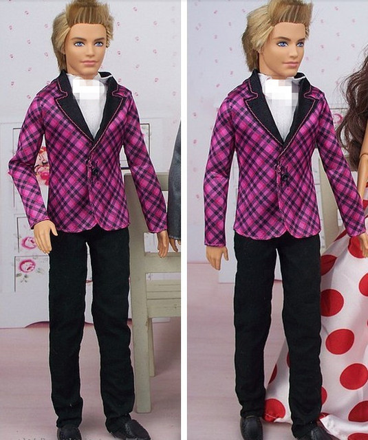 Free Shipping, 2015 new arrival Fashion Wedding Suit For Barbie doll Ken