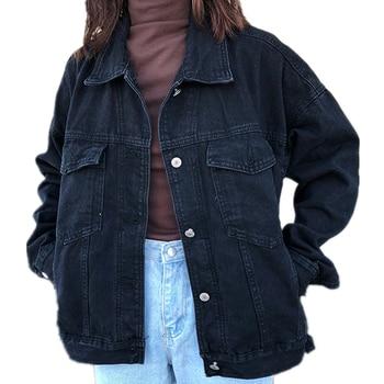 2019 Women Basic Coats Spring Denim Jacket Vintage Long Sleeve Jeans Jackets Slim Female Coat Casual