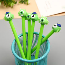 48pcs/lot Boy Monsters Mike Cartoon Black Gel Ink Writing Pens Office Study Materials Kids Birthday Party Favor Takeaways Gifts(China)