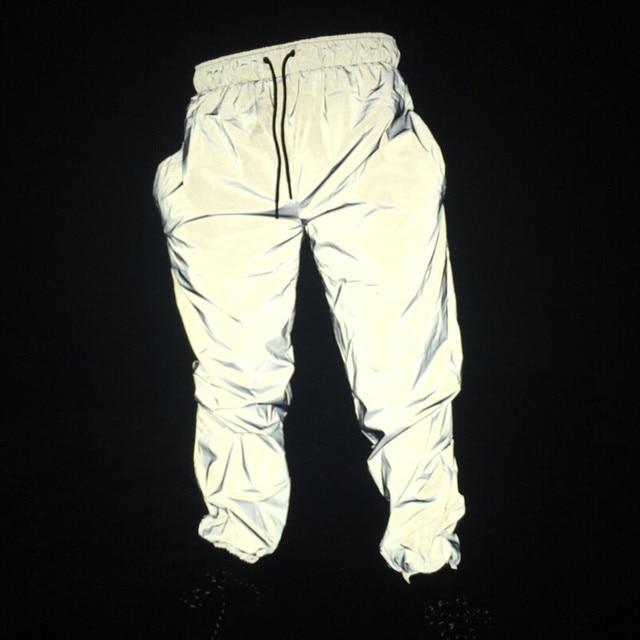 최신 남성 힙합 바지 나이트 조깅 반사 streetwear 바지 남성 캐주얼 운동복 pantalones hombre 플러스 크기 3xl