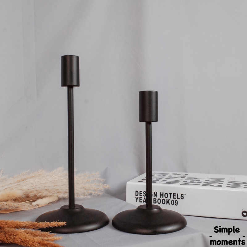 Simple moments Modern Style Golden/Black Candle Holders Home Decorating Candlestick Retro Candle Holder For Dining Table