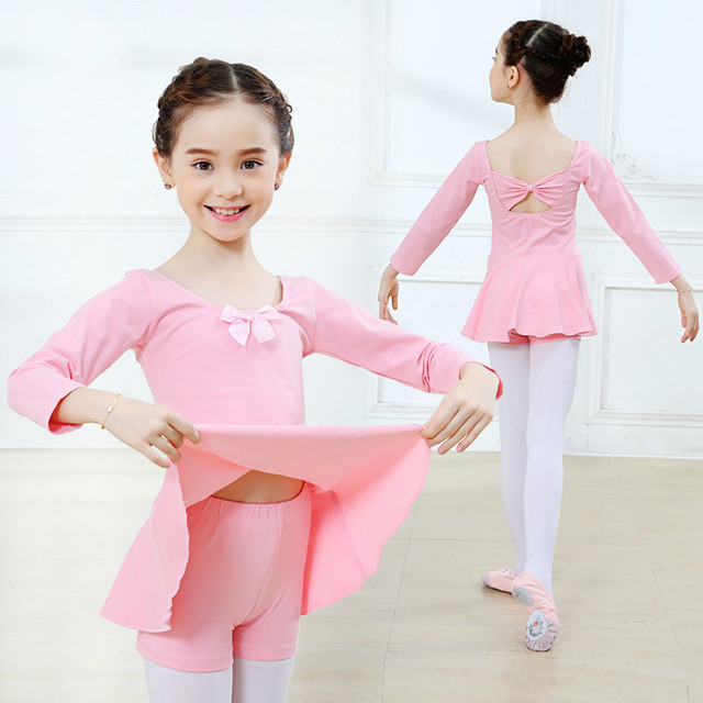 0ee418debafd children long sleeved spandex gymnastics leotard dance for girls ...
