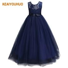 2017 New Kids Girls Wedding Flower Girl Dress Princess Party Pageant Formal Dress Sleeveless Dress 3-14 year wear