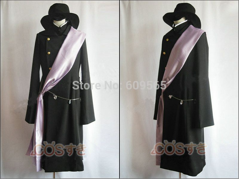 Free Shipping Black Butler Undertaker Cosplay Costume Perfect