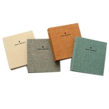 50 Pockets Cotton and Hemp Pattern Mini Photo Album Book Picture Case Storage for 5 Inch Photo / Instax Wide Film